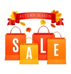 Autumn Sale Shopping Bags vector image