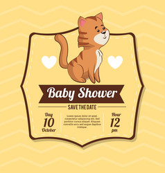 baby shower card invitation celebration vector image