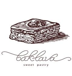 Baklava sweet pastry vector