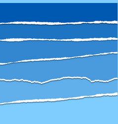 blue ripped or torn paper background vector image
