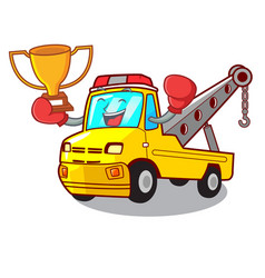 Boxing winner tow truck for vehicle branding vector