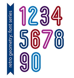 Bright poster classic style rounded bold numbers vector