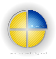 Business circle light yellow blue vector