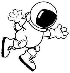 Cartoon astronaut vector