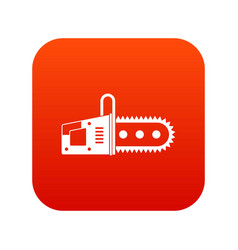 Chainsaw icon digital red vector