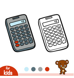 Coloring book calculator vector