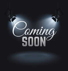 Coming soon mystery retail concept vector