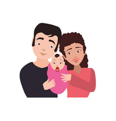 Couples relationship family newborn vector