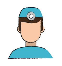 dentist faceless cartoon vector image