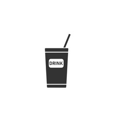 disposable soda cup icon flat vector image