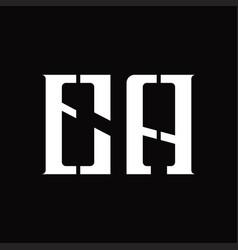 Ea logo monogram with middle slice design template vector