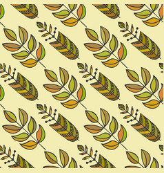 Ethnic seamless pattern with ornamental colorful vector
