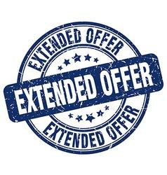 Extended offer blue grunge round vintage rubber vector