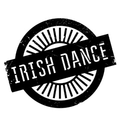 Famous dance style Irish dance stamp vector