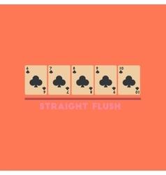 Flat icon on stylish background straight flush vector