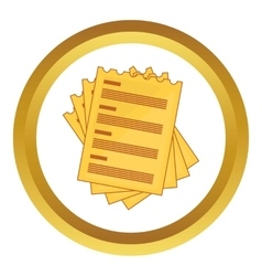 Four list icon vector