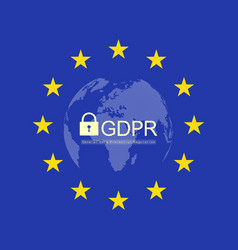 general data protection regulation gdpr european vector image