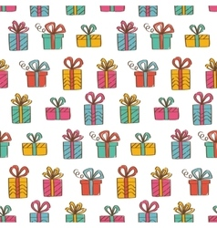 Gift boxes seamless background vector image