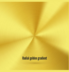 golden radial gradient with scratches metallic vector image