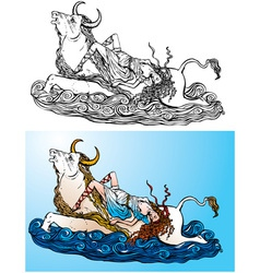 Greek myth vector image