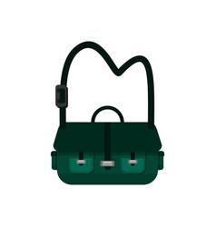 Green simple sling bag design vector