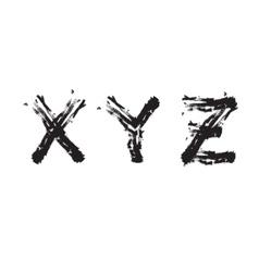 Grunge font next last vector