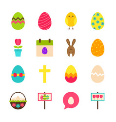Happy easter objects vector