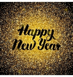 Happy New Year Gold Design vector image