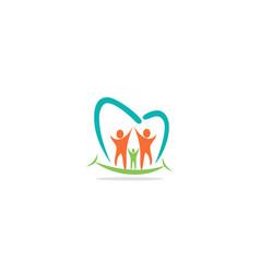 happy people dental logo vector image