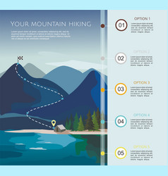 Hiking route infographic template vector