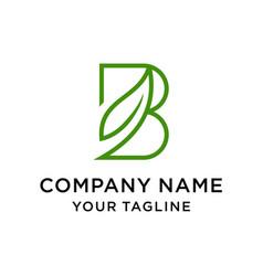 Initial letter b leaf logo nature vector