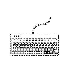 keyboard simple sign black dashed icon on vector image