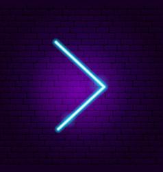 Line arrow neon sign vector