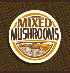 Logo for mushrooms vector