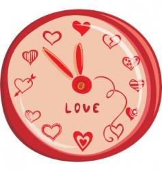 love clock vector image