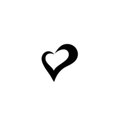 love heart symbol logo templates vector image