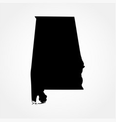 Map of the us state of alabama vector