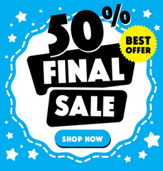 mega sale final sale circles on a blue vector image