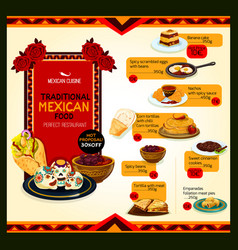 Mexican cuisine menu special offer poster template vector