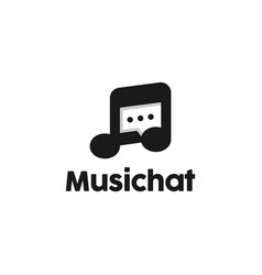 music note chat logo design inspiration vector image