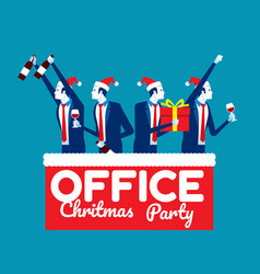 office christmas party concept business vector image