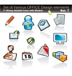 office design elements vector image