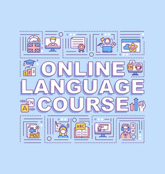 online language course word concepts banner vector image