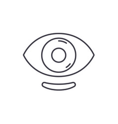 ophthalmic lenses line icon concept ophthalmic vector image