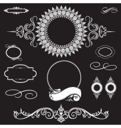 Ornament set vector