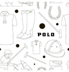 Polo objects Sport uniform pattern vector