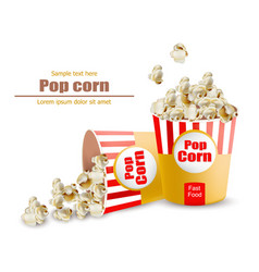 popcorn realistic 3d detailed vector image