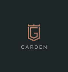 Premium monogram letter g initials logotype vector