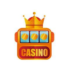 retro logo design for casino slot machine with vector image