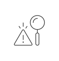 risk analytics line outline icon vector image